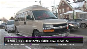 Teen Center Receives Van from Business